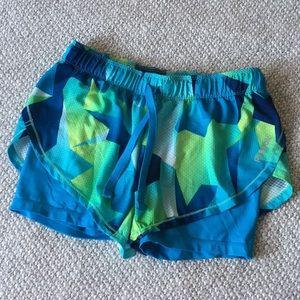 REEBOK blue/green shorts